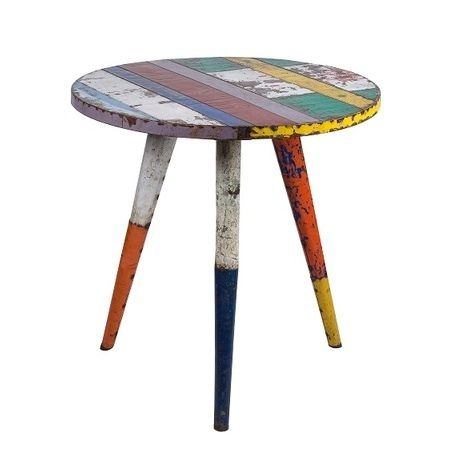 Recycled Bistro Table - Metal - Vavoom Emporium