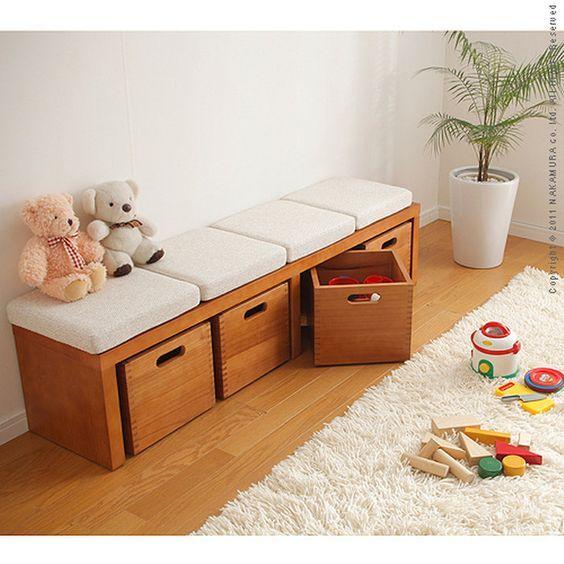 収納とイスがドッキング!便利な収納ベンチを使ったコーデ集 | folk ボックス収納