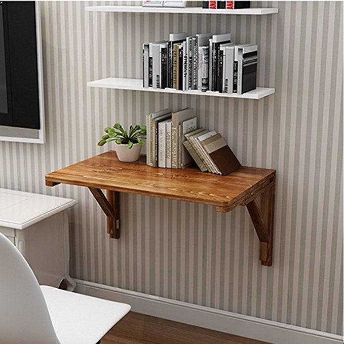 Amazon Com Solid Wood Folding Table Wall Table Dining Table