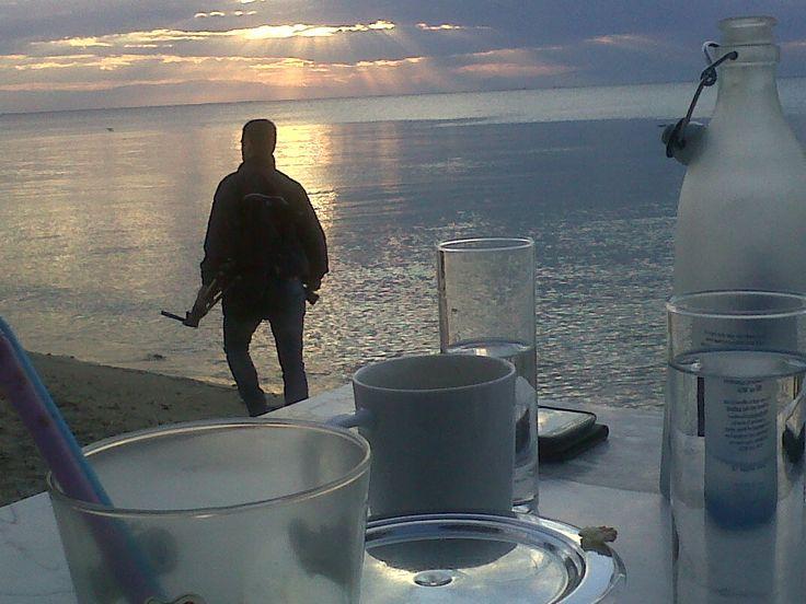 sunset in Thesssaloniki
