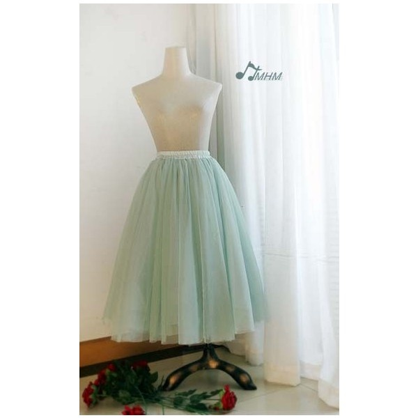HMHM Sweet Candy Long Tulle Skirt found on Polyvore