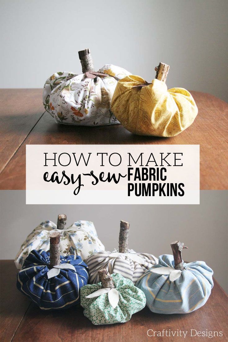 How to make a fabric pumpkin from cloth napkin
