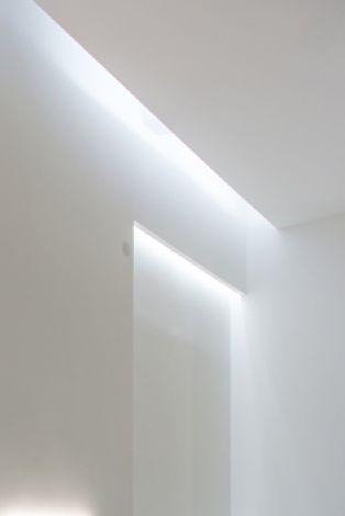Indirect lighting, La Scarpa shop in Sofia by Elia Nedkov Architecture _