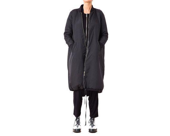 Sehr lange damen mantel