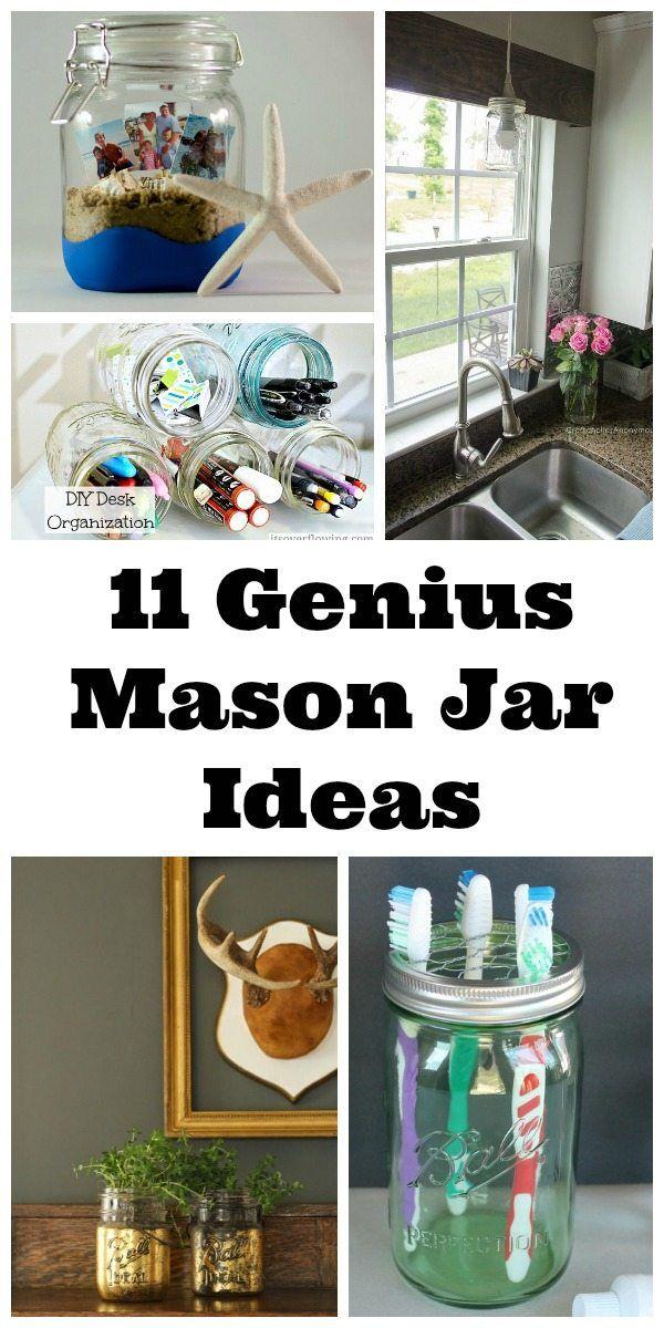 11 Genius Mason Jar Ideas 65 best
