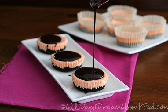 Mini Cherry Chocolate Cheesecake Recipe