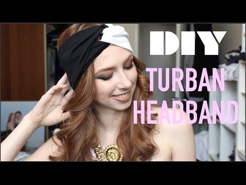 DIY || TURBAN HEADBAND TUTORIAL - YouTube