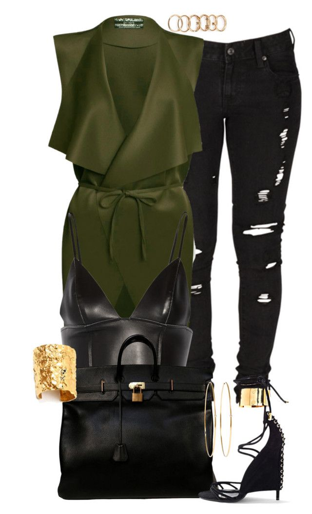 """""""II"""" by highfashionfiles ❤ liked on Polyvore featuring Forever 21, Levi's, T By Alexander Wang, Hermès, Tom Ford, Jennifer Meyer Jewelry and Ben-Amun"""