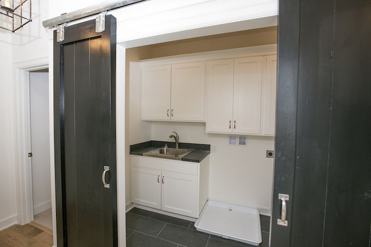 19 best images about laundry room on pinterest laundry for Barn door ideas for laundry room