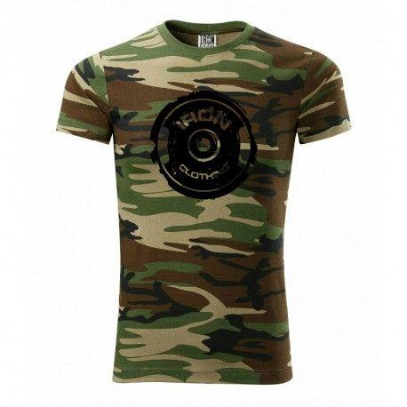 """Kulturistické tričko IRON Clothing vyrobeno ze 100% bavlny vhodné jak pro běžné nošení tak do posilovny. Grafika """"IRON Clothing"""" ve formě černého kruhu na maskáčovém podkladu, která je stylovou součástí momentálních outfitů, bezprostředně značí kdo je majitel tohoto trička. Při nošení zda cvičení je velmi pohodlné, za což vděčí i zmiňované 100% bavlně. Je velmi příjemné na kůži, skvěle """"dýchá"""" a nebrání pohybu."""