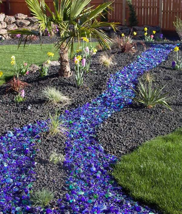 17 best images about outside on pinterest decorative for Different color rocks for landscaping