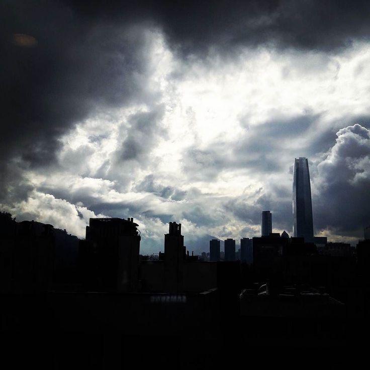 Obscured by clouds.     #InstaChile #instasantiago #chilegram #instastgo #lifestyle #city #winter #clouds #sky #skyline #tbh #l4l #fbf #santiagoadicto #santiagolovers #storm #Santiago