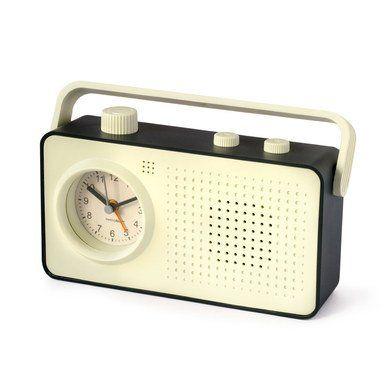 Retro cadeau: Retro Radio Alarmklok (zwart) - Balvi - Axeswar Design