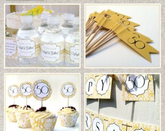 Printable 50th Anniversary Party