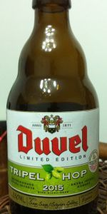 Duvel Tripel Hop 2015 (Equinox)  (Duvel Tripel Hop 2015 (Equinox) is a Belgian Strong Pale Ale style beer brewed by Brouwerij Duvel Moortgat NV in Breendonk-Puurs, Belgium. 91 out of 100 with 56 reviews, ratings and opinions)