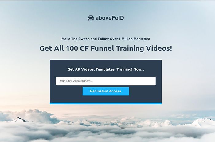 Above the fold - Template 15 - Optin, landing page, squeeze page, lead page - easy to edit