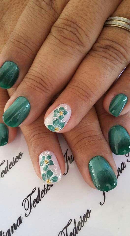 Mejores 240 imágenes de unghie verdi en Pinterest | Arte de uñas ...