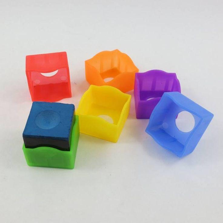 Borracha de bilhar giz titular Multicolor acessórios piscina taco de bilhar e Snooker 6 pçs/lote