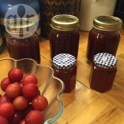 An easy jam for first-timers. Once you taste home-made you'll never buy store-bought again! The colour depends on the variety of the plums you use - the above picture used English Victoria plums, yellow/light skins. Red plums produce red jam, dark plums produce a darker jam. The taste is the same.
