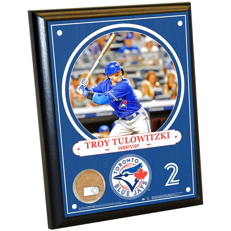 Toronto Blue Jays Troy Tulowitzki 8x10 Plaque with Game Used Dirt from Rogers Centre - $23.99