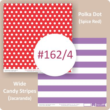 Polka Dot Spice Red/Wide Candy Stripes Jacaranda