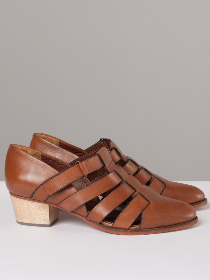 cool brown leather sandals