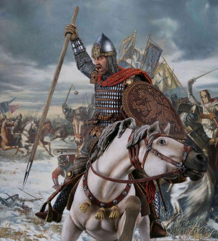 Князь Александр Невский, Великий князь 1252-1263. Ледовое побоище 1242. М1:14.