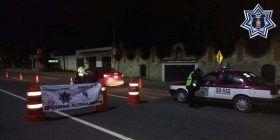 Aplica Policía Vial Estatal operativo alcoholímetro en el monumento a Juárez-Oriente