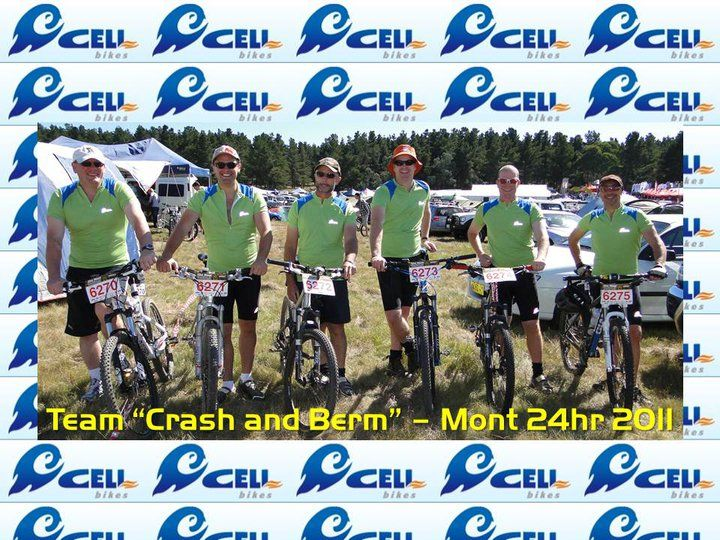 Karl Brown and Crew with some vintage style CELL jerseys at the Mont 24hr!