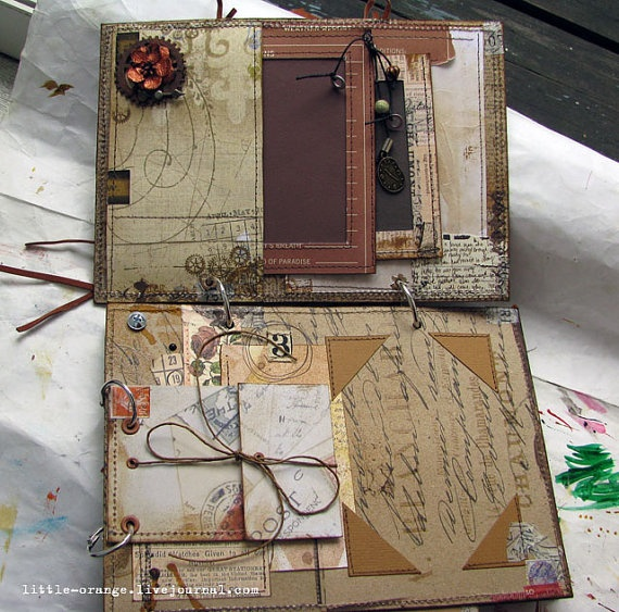 steampunk album -nice storage for papers/old photos etc