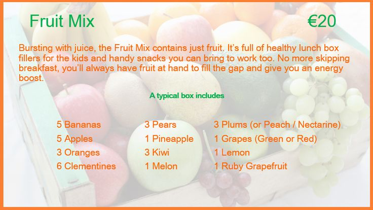 Fruit Mix Description