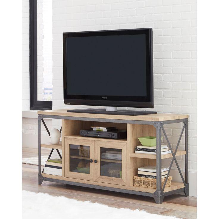 Martin Svensson Home Market Street White Oak-finish Wood/Metal/ 55-inch TV Stand