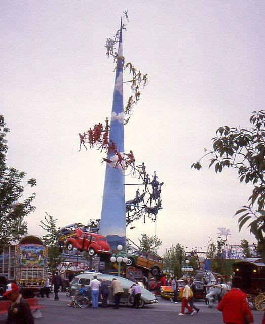 Land Plaza Spire at Expo 86 World's Fair, Vancouver British Columbia, Canada. #Expo86 #WorldsFair #Vancouver #BritishColumbia #Canada
