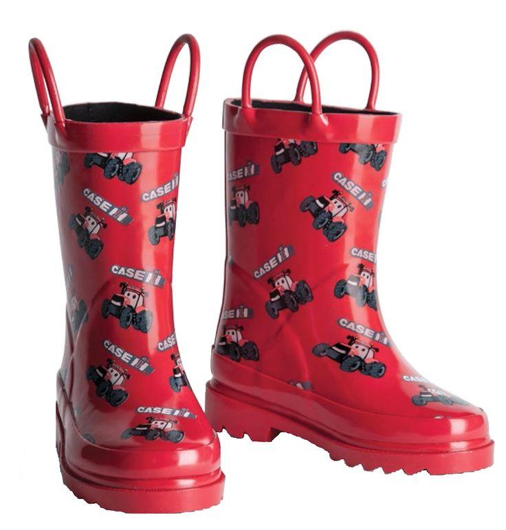 Big Red Case IH Kids Boots