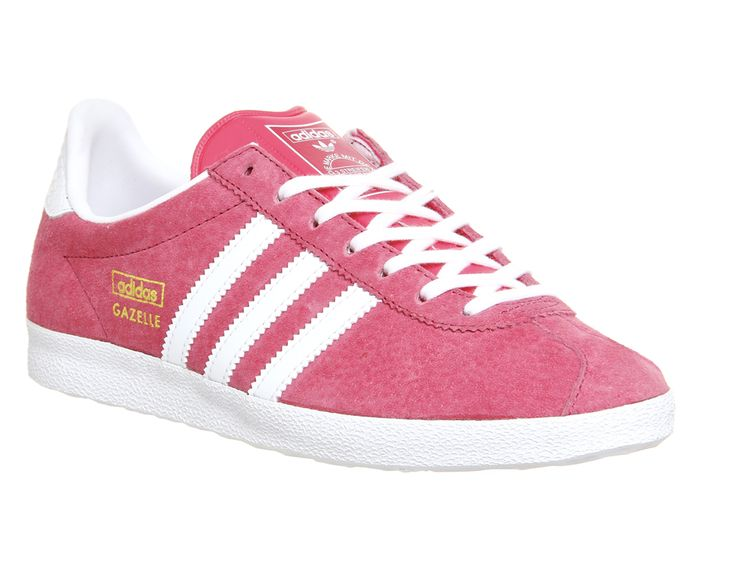 Buy Lush Pink White Metallic Gold Adidas Gazelle Og W from OFFICE.co.uk