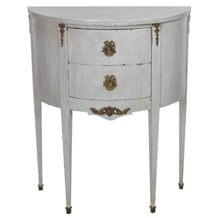 French Louis XVI Demi Lune Chest Of Drawers