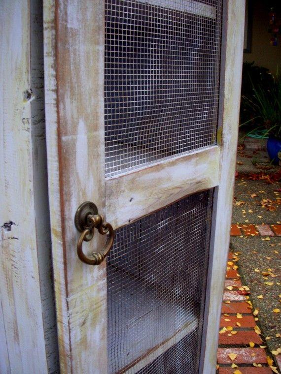 Reclaimed Rustic Wood Pie Safe Cabinet Storage Shelf Handmade Pantry Kitchen