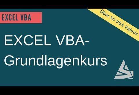 Excel Vba Grundlagenkurs Lerne Excel Vba Einfach Schnell