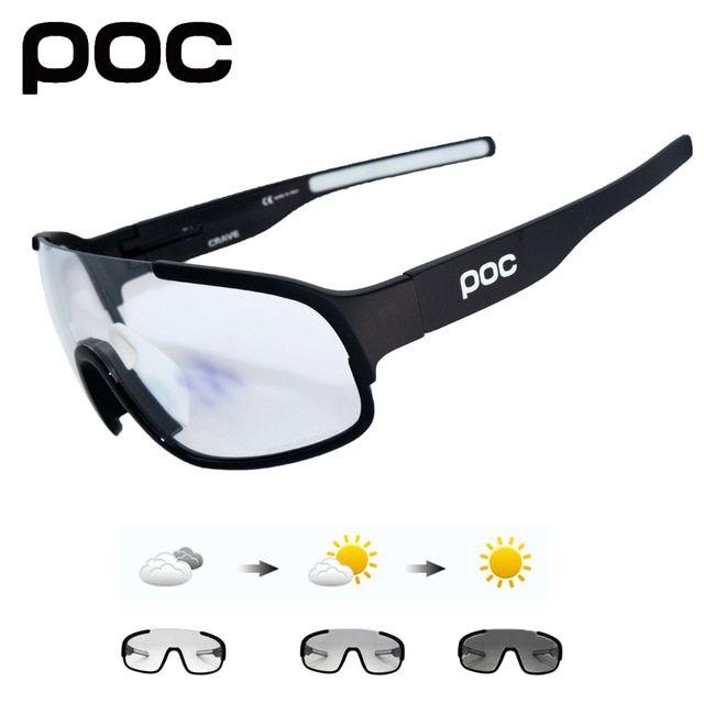 Photochromic UV400 Polarized Goggle Cycling Sunglass Unisex Mountain Bike Glass