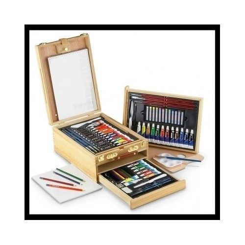 This Sketching andDrawing artist Set includes a 104 piece collection of artist materials ideal for beginners, students, or artists.