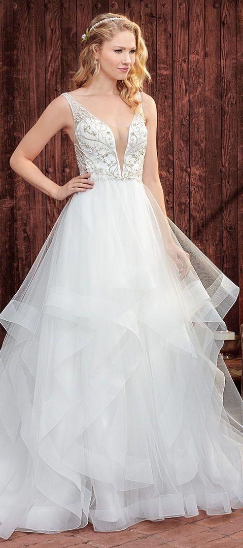 ballgown wedding dresscasablanca bridal #weddingdress