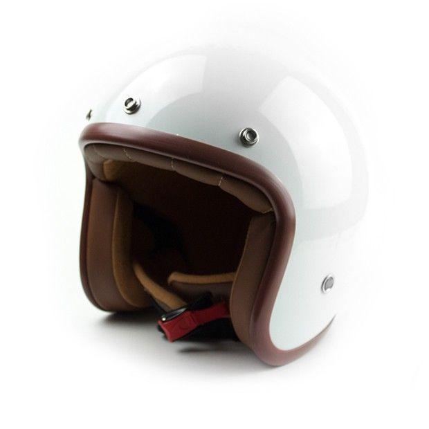 #helmade #ONE White Open Face Helmet. Buy and design yours on https://www.helmade.com/en/helmade-one-white-open-face-helmet.html