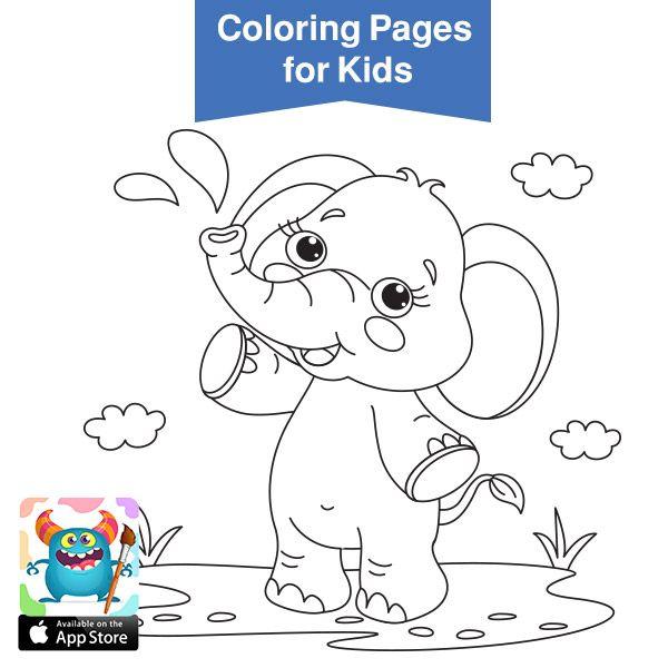 صور حيوانات للتلوين رسومات اطفال رسومات حيوانات الغابه للتلوين بالعربي نتعلم Coloring Books Coloring Pages For Kids Easy Coloring Pages
