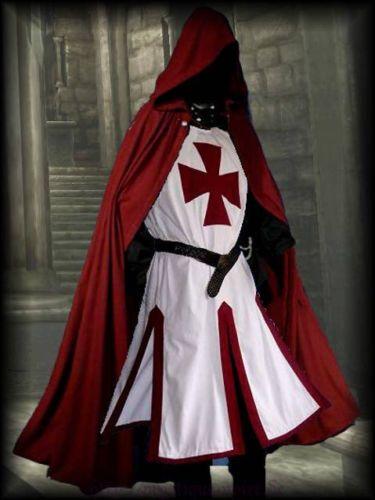 Medieval Templar Knight Crusader Surcoat & Cloak ...