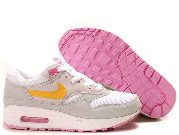 Fake Womens Nike Air Max 1 White Wheat Neutral Grey Medium Grey Shoes39 98