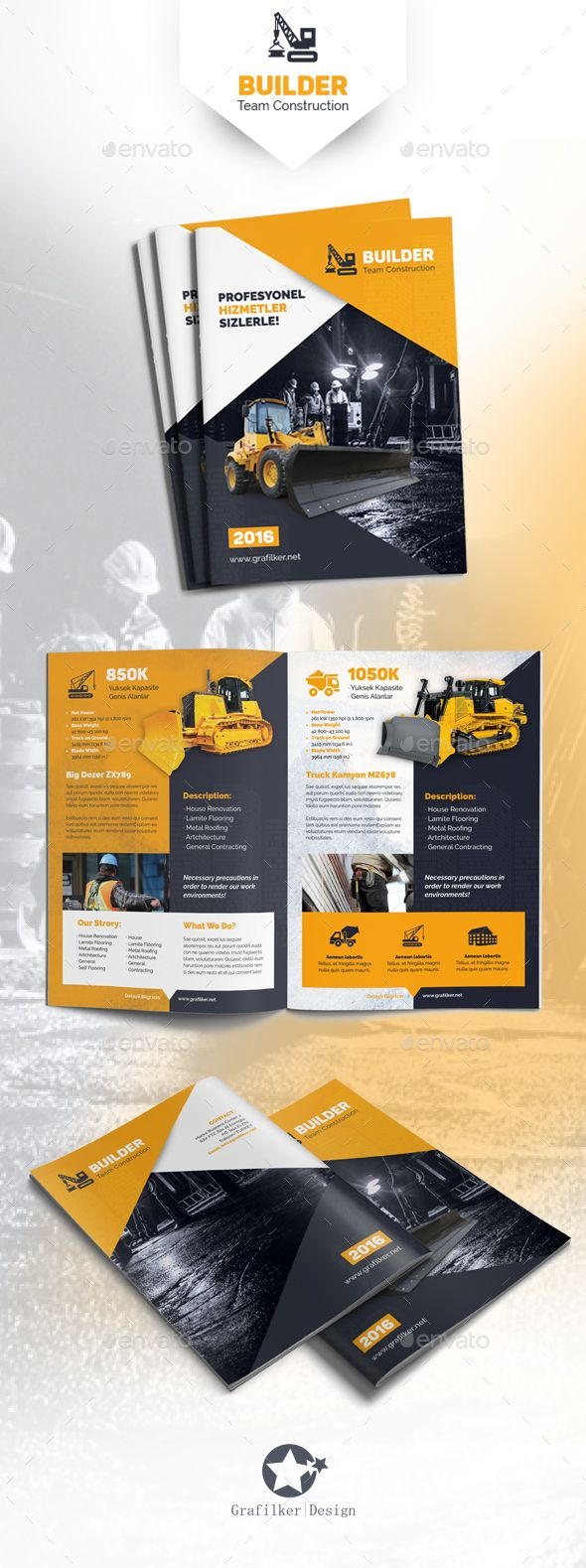 25 best ideas about construction design on pinterest for Construction brochure template