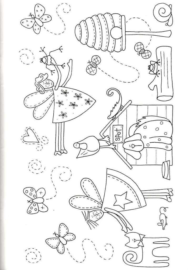 Fairy applique pattern
