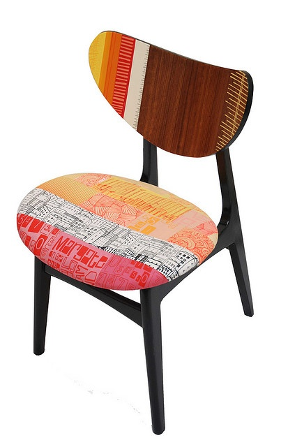 colourful work of @Zoe_Murphy who updates retro furniture with lush seaside-inspired prints                                                                                                                                                                                 More