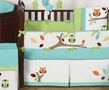 Turquoise and Lime Hooty Owl Baby Bedding - 9 pc Crib Set only $189.99