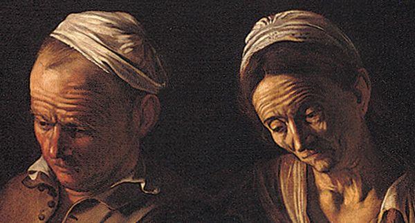 """Caravaggio, """"Cena in Emmaus"""", 1606 olio su tela, 175x141 cm Milano, Pinacoteca di Brera"""